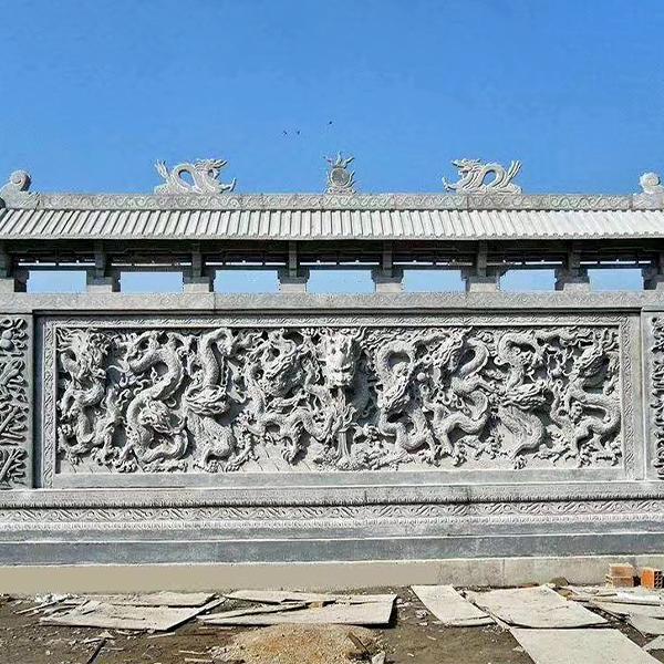 【浮雕0025】九龙壁石雕墙多少钱