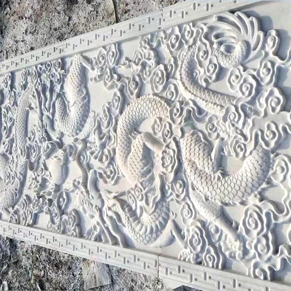 【浮雕0026】九龙壁石雕墙雕刻厂