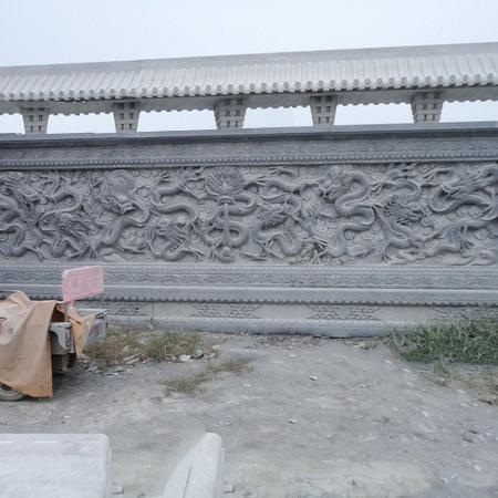 【浮雕0029】九龙壁石雕墙定制