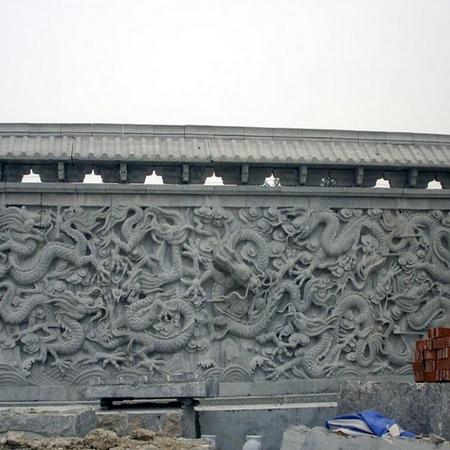 【浮雕0032】九龙壁石雕墙定做