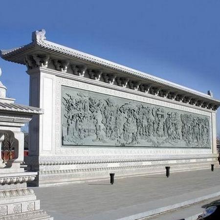 【浮雕0035】九龙壁石雕墙报价