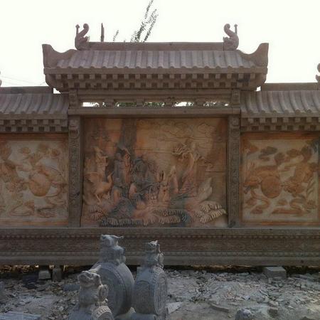 【石材浮雕系列0036】九龙壁石雕墙价格