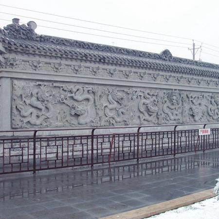 【石材浮雕系列0044】九龙壁石雕墙定做