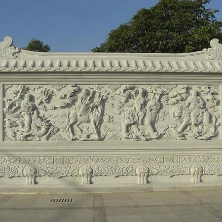 【石材浮雕系列0045】九龙壁石雕墙哪家好