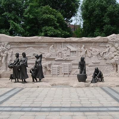【浮雕0146】影壁墙石浮雕雕刻厂