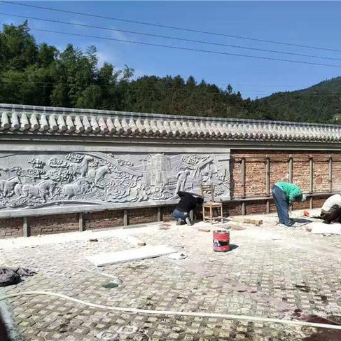 【浮雕0364】文化墙石浮雕雕刻厂