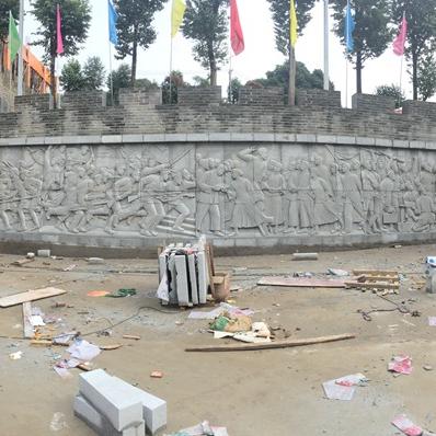 【浮雕0365】文化墙石浮雕厂
