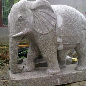 【石雕动物系列080】石雕大象定制