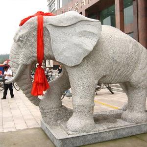 【石雕动物系列081】石雕大象厂家