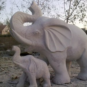 【石雕动物系列083】石雕大象报价