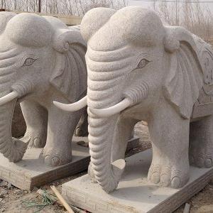 【石雕动物系列084】石雕大象多少钱