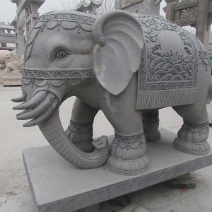 【石雕动物系列093】石雕大象厂家