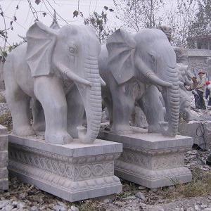【石雕动物系列095】石雕大象报价