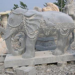 【石雕动物系列098】石雕大象定制