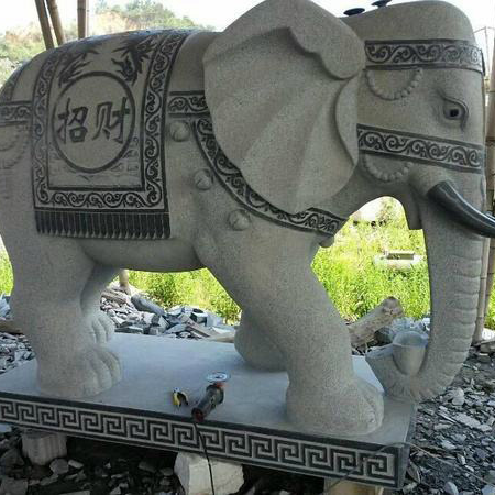 【石雕动物系列419】青石雕大象哪家好