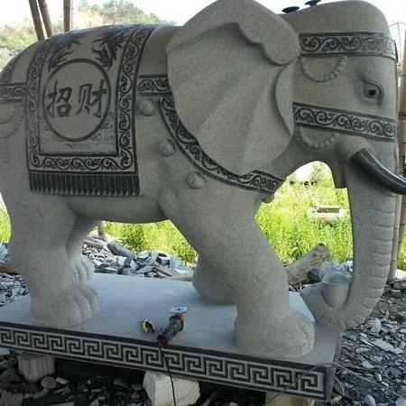 【石雕动物系列420】青石雕大象报价