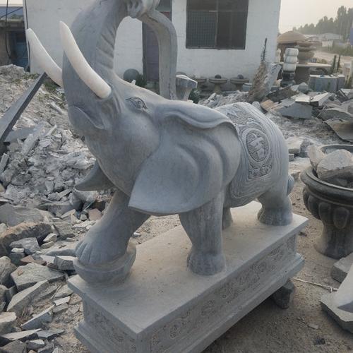 【石雕动物系列424】青石雕大象厂家