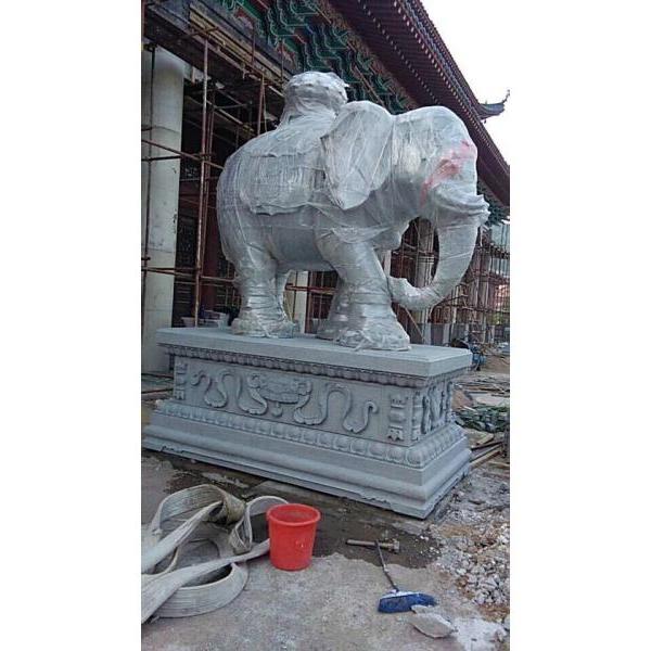【石雕动物系列426】青石雕大象报价
