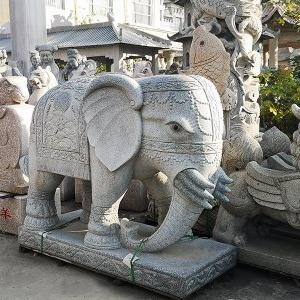 【石雕动物系列428】青石雕大象厂