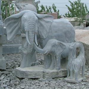 【石雕动物系列434】青石雕大象厂