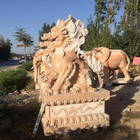 【石雕动物系列086】石雕貔貅公司