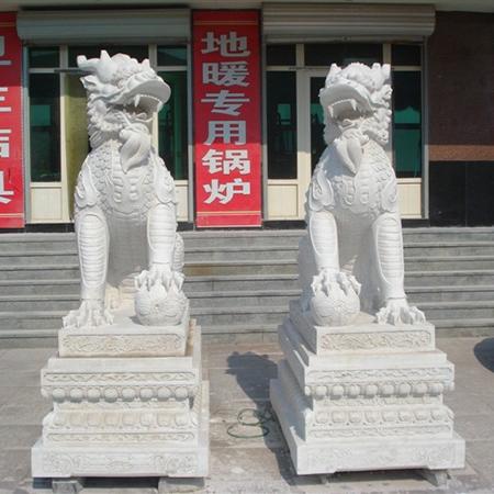 【石雕动物系列369】动物瑞兽-麒麟定制