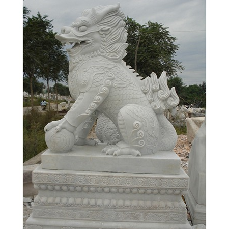 【石雕动物系列376】动物瑞兽-麒麟厂家