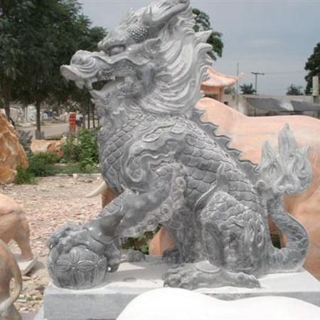 【石雕动物系列380】动物瑞兽-麒麟厂