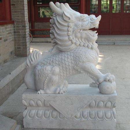 【石雕动物系列397】动物瑞兽-麒麟多少钱