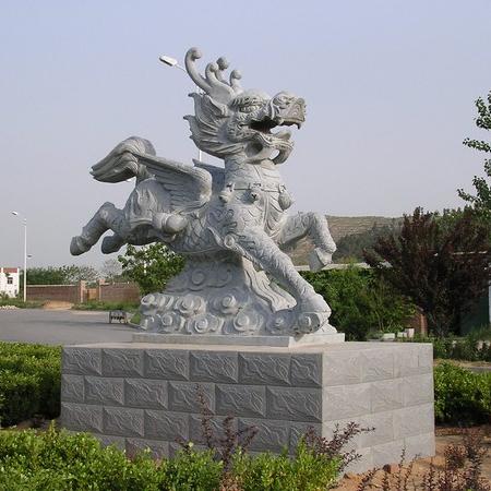 【石雕动物系列400】动物瑞兽-麒麟厂家
