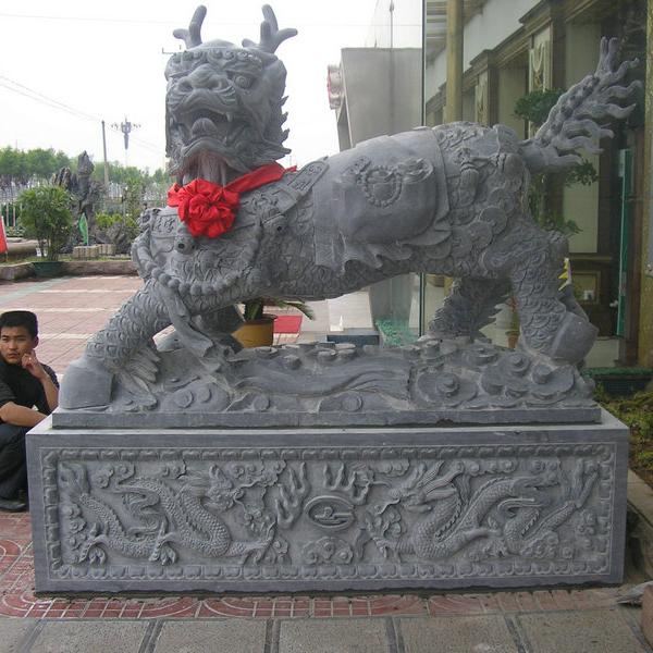 【石雕动物系列409】动物瑞兽-麒麟多少钱