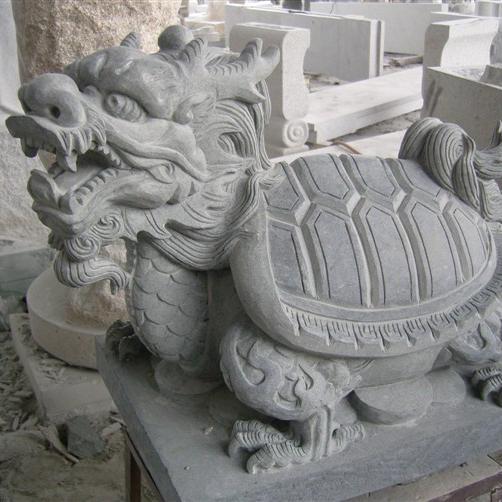 【石雕动物系列480】石雕龙龟定制