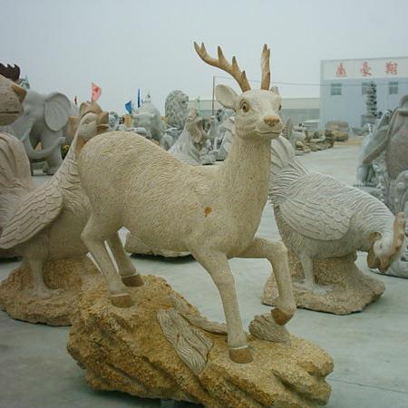 【石雕动物系列496】石雕鹿哪家好