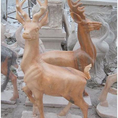 【石雕动物系列509】石雕鹿供应