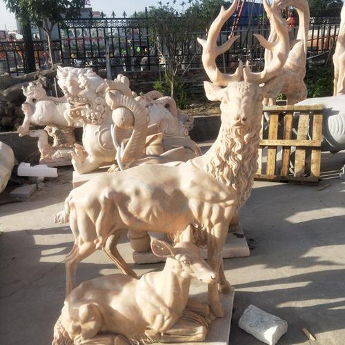 【石雕动物系列513】石雕鹿雕刻厂