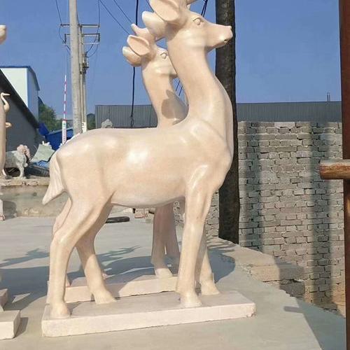 【石雕动物系列517】石雕鹿公司