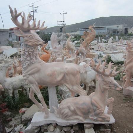 【石雕动物系列518】石雕鹿厂家