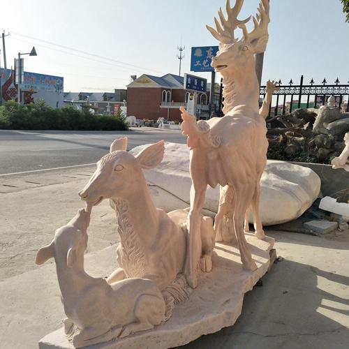 【石雕动物系列520】石雕鹿哪家好