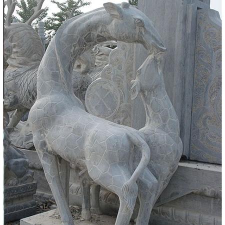 【石雕动物系列525】石雕鹿雕刻厂