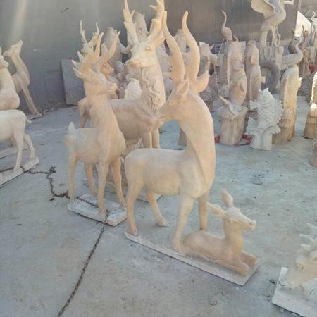 【石雕动物系列526】石雕鹿厂