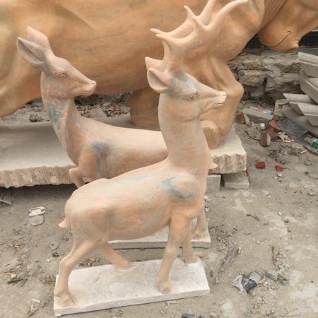【石雕动物系列528】石雕鹿定制