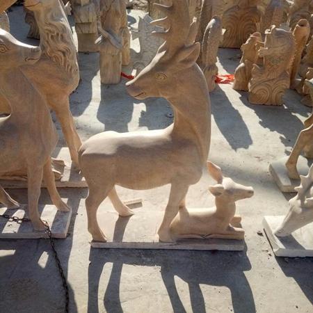 【石雕动物系列533】石雕鹿供应