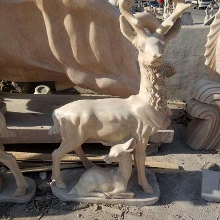 【石雕动物系列536】石雕鹿多少钱