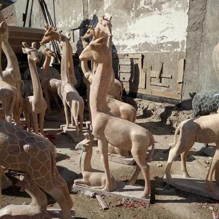【石雕动物系列537】石雕鹿雕刻厂