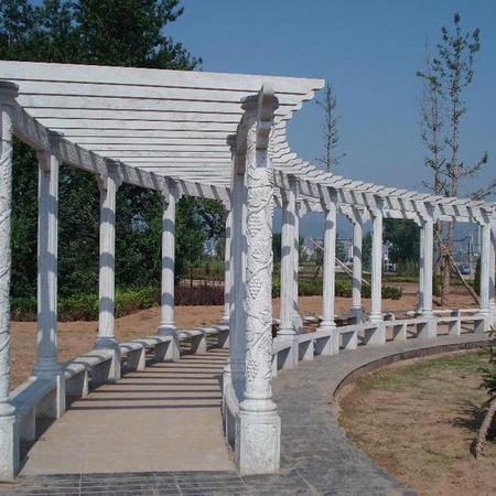 【园林景观115】石雕花架长廊雕刻厂