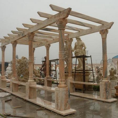 【园林景观116】石雕花架长廊厂家