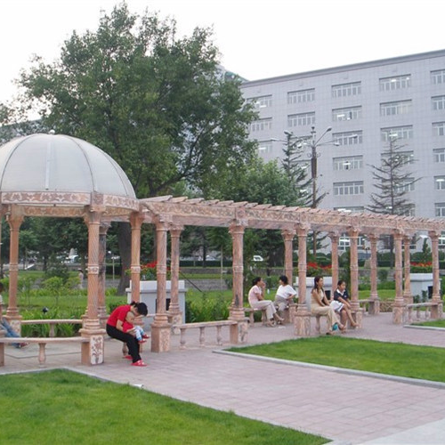 【园林景观122】石雕花架长廊多少钱