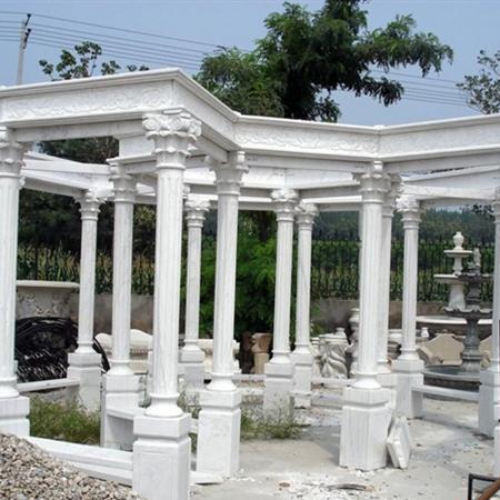 【园林景观123】石雕花架长廊公司