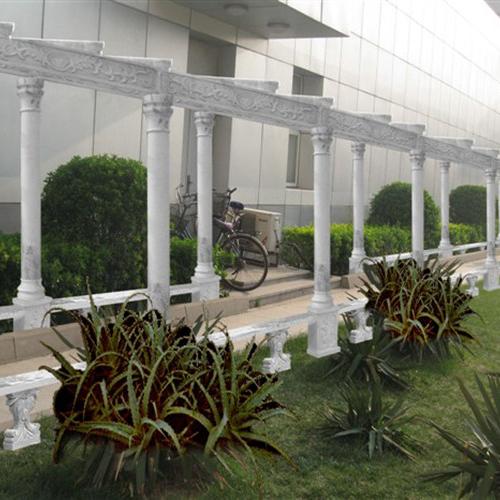 【园林景观125】石雕花架长廊定制
