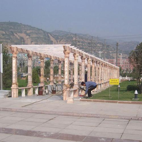 【园林景观128】石雕花架长廊定做